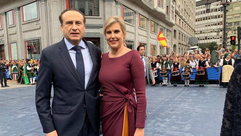 José Luis Enríquez y Natalia Carballo, en los Premios Princesa de Asturias 2019