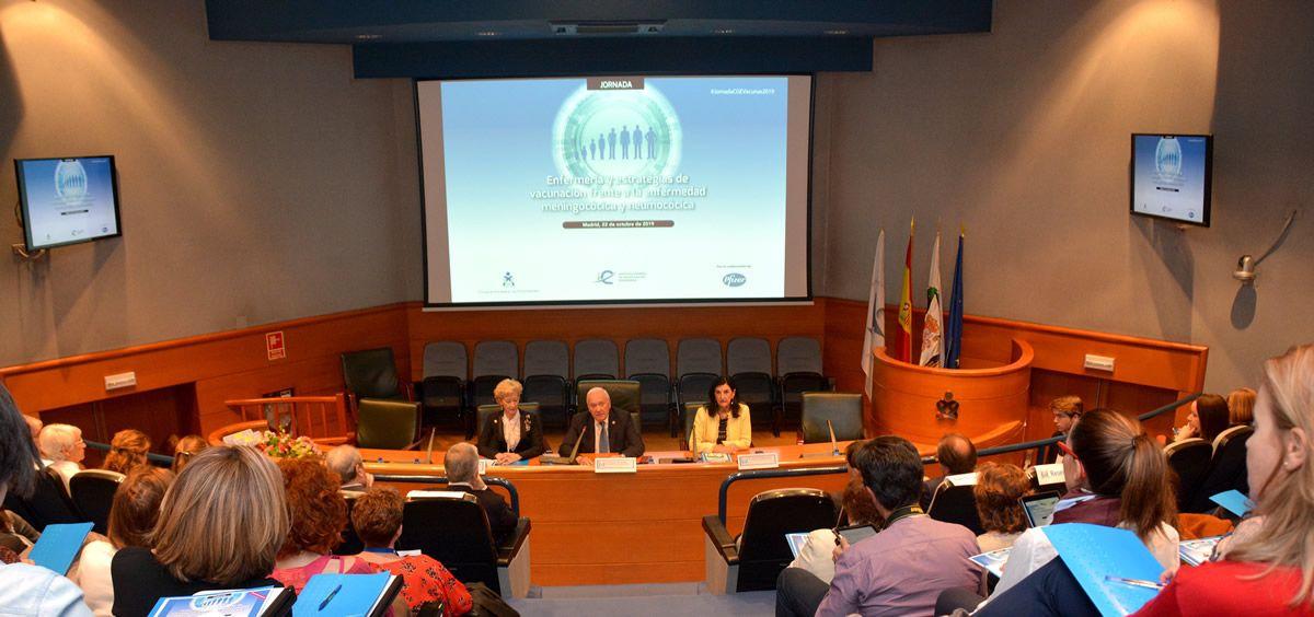 Inauguración de la Jornada por parte del presidente del Consejo General de Enfermería, Florentino Pérez. (Foto. CGE)