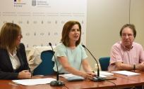 Teresa Cruz durante la presentación de la campaña de vacunación contra la gripe (Foto. Gobierno de Canarias)
