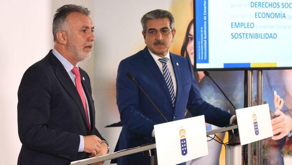 Ángel Víctor Torres y Román Rodríguez, presidente y vicepresidente del Gobierno de Canarias (Foto: @PresiCan)