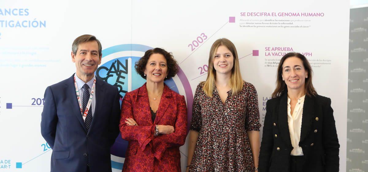Miguel Idoate, Ruth Vera, Lidia García y Maite Sarobe en la presentación de la campaña 'Diálogos de salud y cáncer' (Foto. ConSalud)