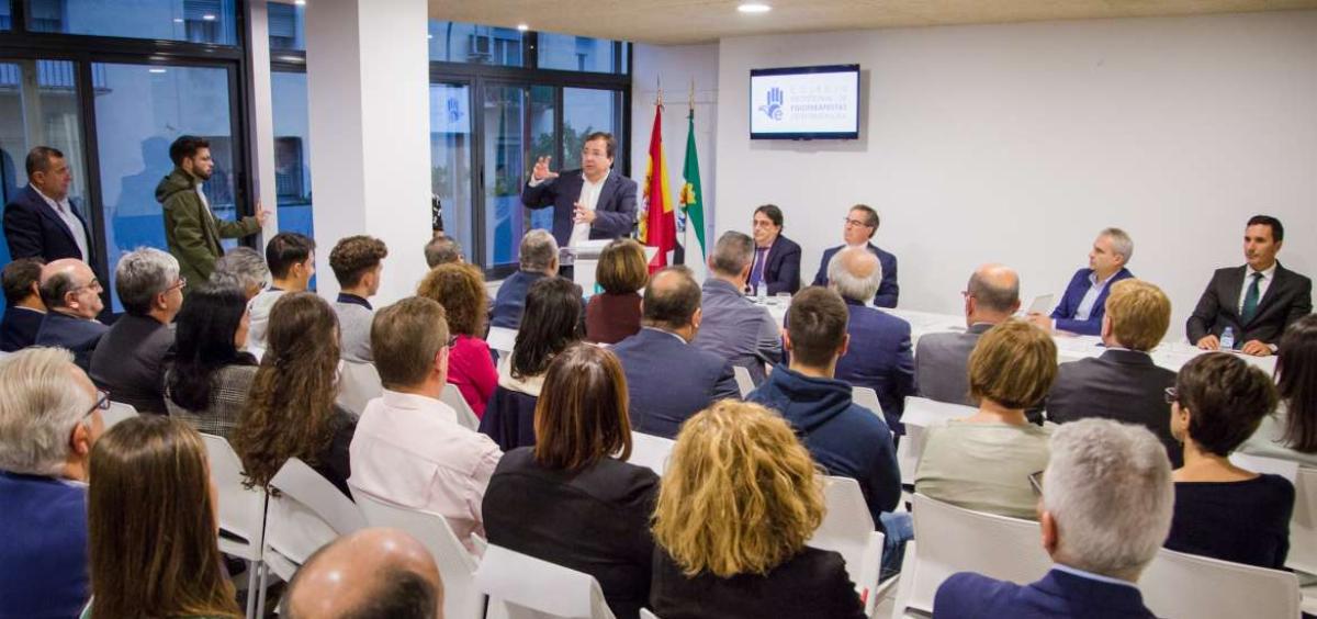 Intervención de Fernández Vara (Foto. Junta de Extremadura)