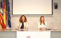 Patricia Gómez, consejera de Sanidad de las Islas Baleares, en la rueda de prensa del Consejo de Gobierno (Foto. Gobierno Islas Baleares)