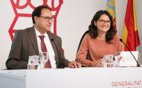 La vicepresidenta y portavoz del Consell, Mónica Oltra y el consejero de Hacienda y Modelo Económico, Vicent Soler (Foto. Generalitat Valenciana)