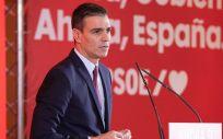 Pedro Sánchez, secretario general del PSOE, durante la presentación de la campaña (Foto: PSOE)