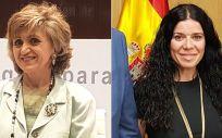 María Luisa Carcedo, ministra de Sanidad en funciones, y Patricia Lacruz, directora general de Cartera Básica de Servicios del Sistema Nacional de Salud y Farmacia (Foto: ConSalud.es)