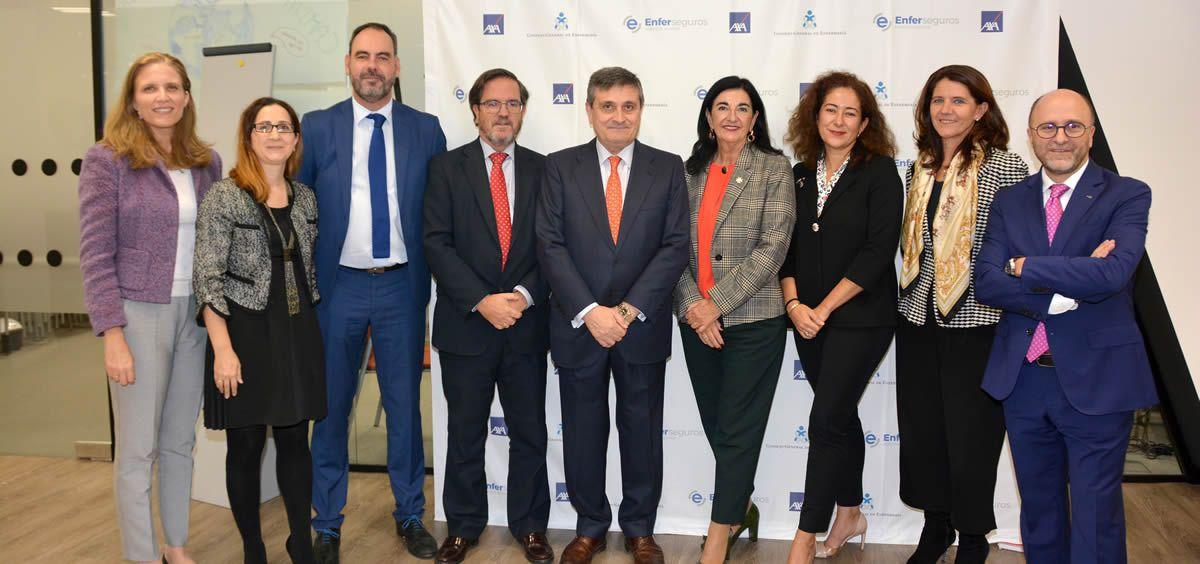 Jornada entre el Consejo General de Enfermería, Enferseguros y la compañía AXA (Foto: CGE)