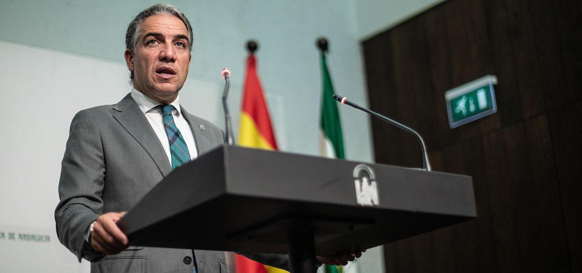 Elías Bendodo, portavoz de la Junta de Andalucía (Foto: Junta de Andalucía)