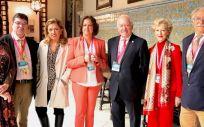 Foto de familia de los ponentes de la jornada 'Actualización en vacunas'. (Foto. CGE)