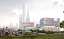 Vista de cómo será el futuro Hospital La Paz según el boceto del proyecto ganador (Foto: Comunidad de Madrid)