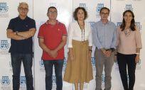 Reunión entre los representantes del Colegio Oficial de Médicos de Alicante y de la Sociedad Española de Medicina de Urgencias y Emergencias de la Comunidad Valenciana (Foto: COMA)