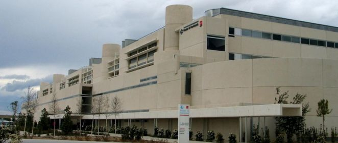 Fachada exterior del Hospital Universitario de Fuenlabrada. (Foto. Comunidad de Madrid)