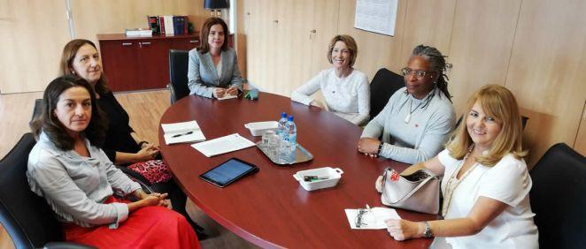 Reunión de la consejera de Sanidad del Gobierno de Canarias, Teresa Cruz (Foto. Gobierno de Canarias)
