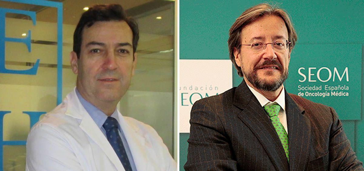 El presidente de la Sociedad Española de Hematología y Hemoterapia (SEHH), Ramón García Sanz y el presidente de la Sociedad Española de Oncología Médica (SEOM), Álvaro Rodríguez Lescure. (Fotomontaje ConSalud)