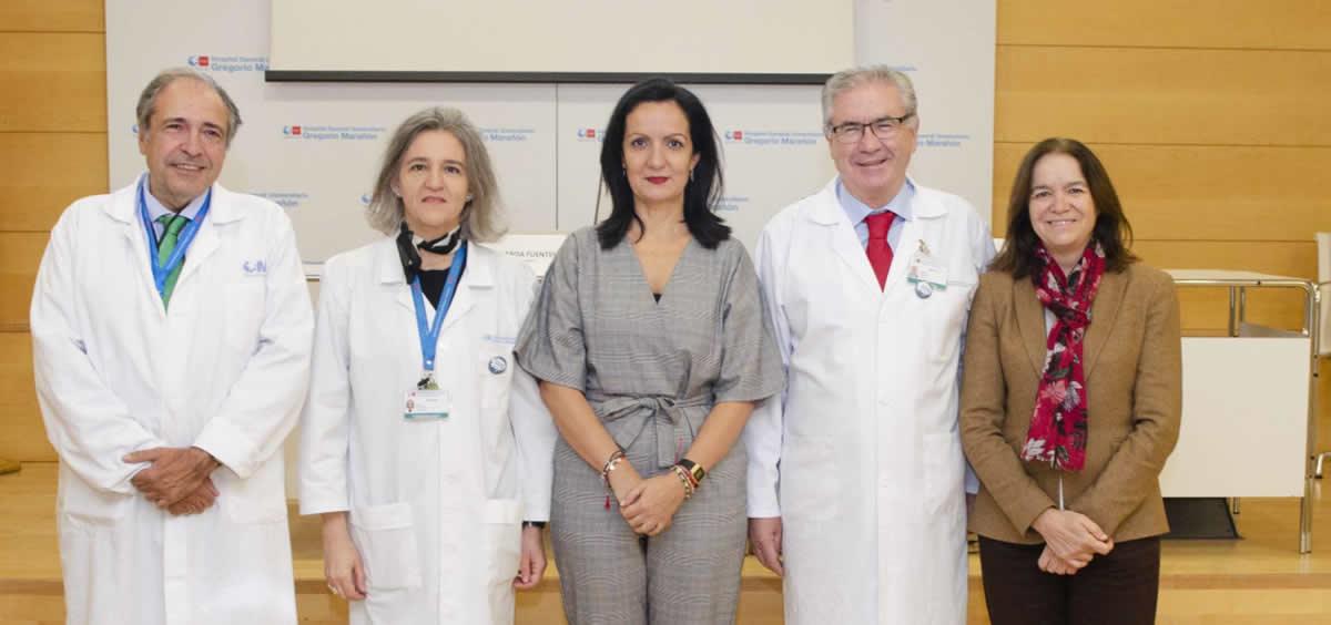 La directora general de Salud Pública de la Comunidad de Madrid, Yolanda Fuentes, en una jornada técnica celebrada en el Hospital Universitario Gregorio Marañón (Foto. Comunidad de Madrid)