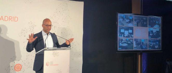 David Palacios, Head Global Patient Advocacy Pharma de Novartis en la European Patient Innovation Summit (Foto. @NovartisSpain)