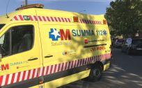 Transporte sanitario (Foto: @112cmadrid)