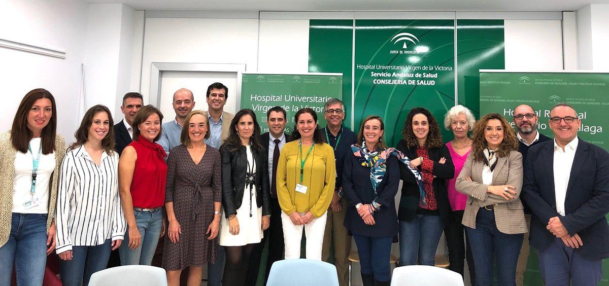 Asistentes a la jornada del Hospital Virgen de la Victoria (Foto. Junta de Andalucía)