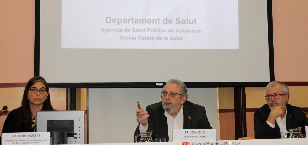 Rueda de prensa en la que han informado de la comercialización de este fármaco (Foto. Generalitat de Cataluña)