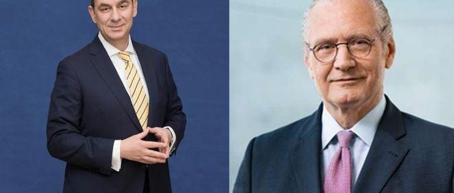 De izq. a dcha.: Albert Bourla, CEO de Pfizer; y Stefan Oschmann, CEO de Merck