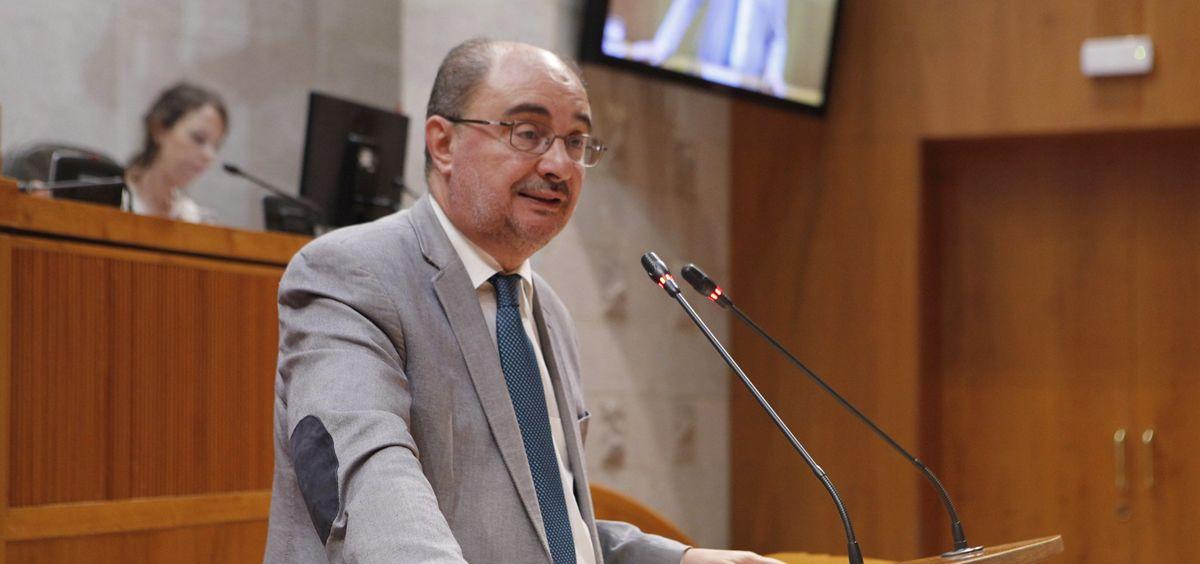 El presidente del Gobierno de Aragón, Javier Lambán. (Foto Flickr Cortes de Aragón)