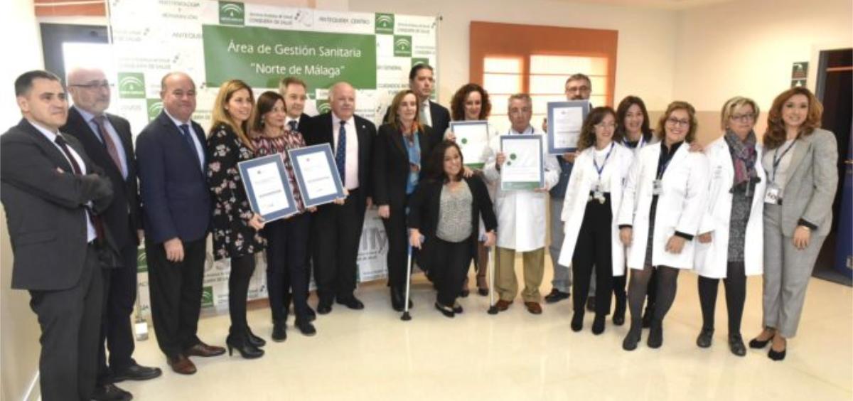 Entrega de los reconocimientos en Antequera (Foto. Junta de Andalucía)