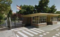 Entrada al Hospital Militar de Zaragoza. (Foto CSIF)