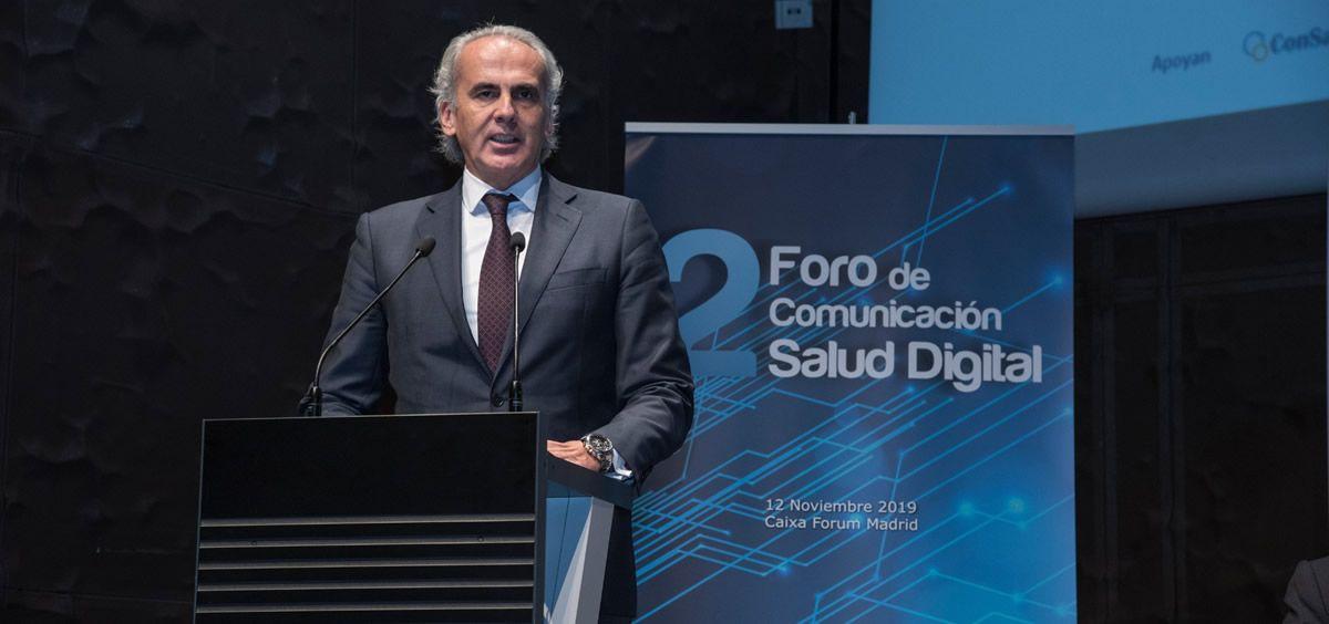El consejero de Sanidad de la Comunidad de Madrid, Enrique Ruiz Escudero, ha sido el encargado de clausurar el II Foro de Comunicación Salud Digital (Foto: Miguel Ángel Escobar - ConSalud.es)