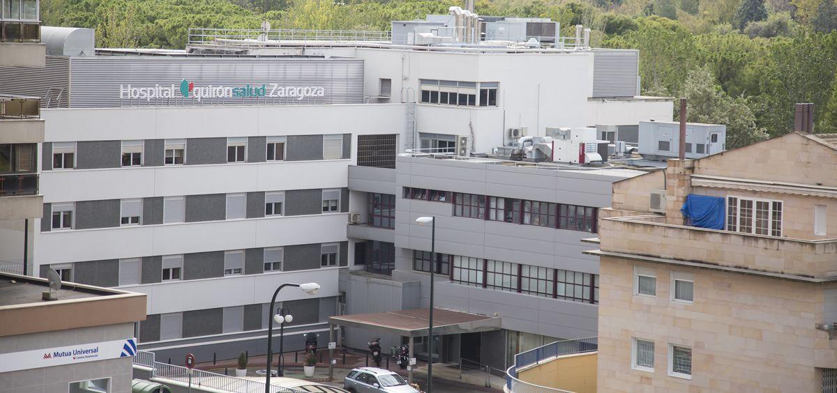 Fachada exterior del Hospital Quirónsalud Zaragoza. (Foto. Quirónsalud)