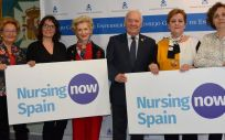 Representantes de la Asociación Española de Matronas y de la Federación de Asociaciones de Matronas de España se han reunido con los representantes del Consejo General de Enfermería (Foto. CGE)