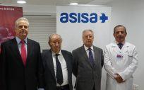 De izqda. a dcha.: Álex Yepes, José Antonio Bolarín, el Dr. Diego Lorenzo, Eduardo Reina y Pedro Mateo.