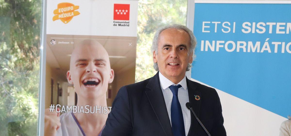El consejero de Sanidad Enrique Ruiz Escudero. (Foto. Comunidad de Madrid)