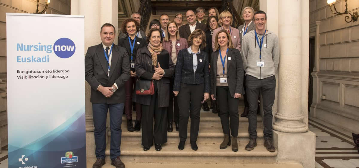 Nekane Murga en la inauguración de las jornadas Nursing Now Euskadi (Foto. Gobierno de Euskadi)
