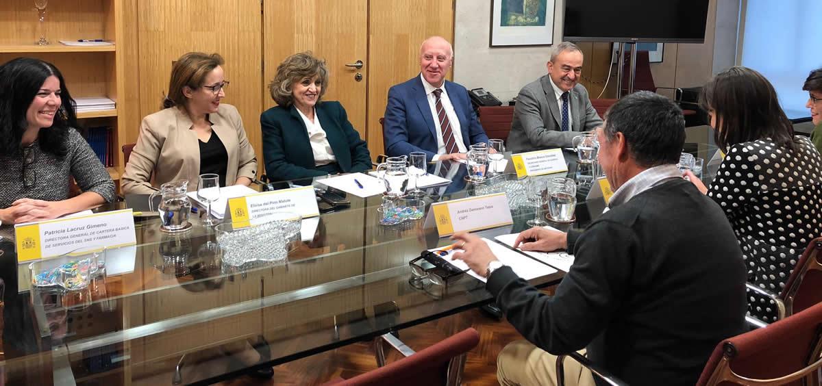 Reunión de la ministra de Sanidad, Consumo y bienestar Social en funciones, Maria Luisa Carcedo, con el Comité Nacional de Prevención del Tabaquismo. (Foto. Ministerio de Sanidad)