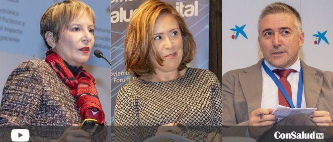 De izquierda a derecha: Mª Luz de los Mártires Almingol, Carina Escobar y Santiago García Blanco (Fotos: Óscar Frutos - Vídeos: Miguel Ángel Escobar | ConSalud.es)