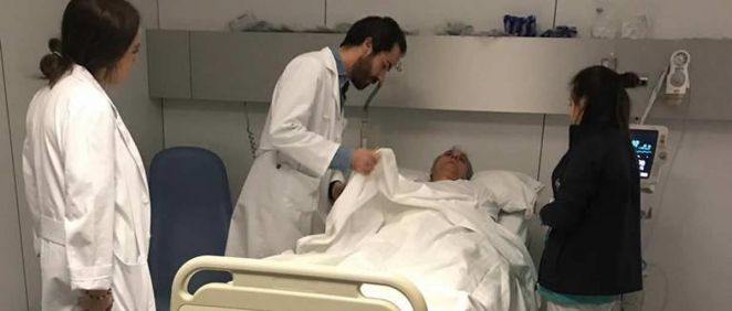 Simulacro ictus en el Hospital Ruber Juan Bravo (Foto. Hospital Ruber Juan Bravo)