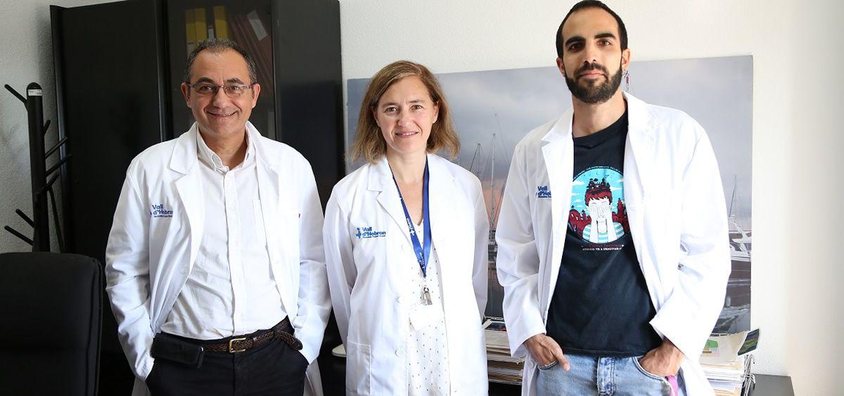 Investigadores Simó Schwartz, Ibane Abasolo y Joaquim Seras Franzoso (Ciber BBN Vall d'Hebrón Instituto de Investigación) (Foto. Ciber)