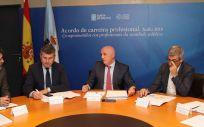 Reunión entre el Ayuntamiento de A Coruña y el Servicio Gallego de Salud (Foto. Xunta de Galicia)
