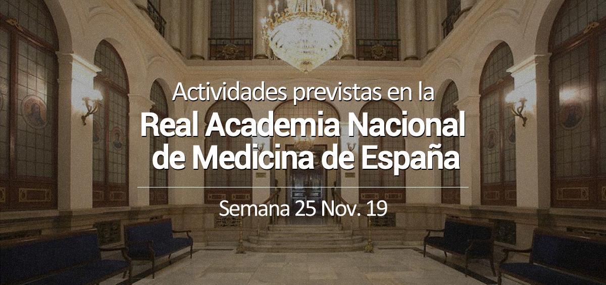 Actividades previstas en la Real Academia Nacional de Medicina de España