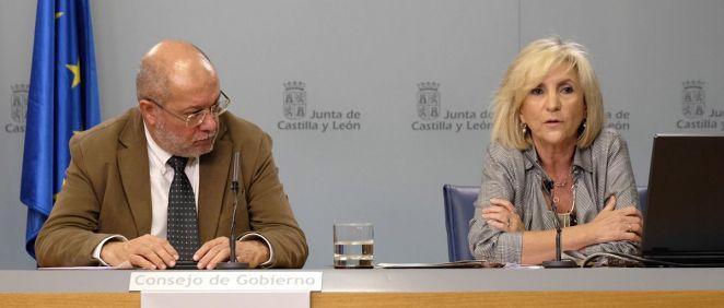 Francisco Igea, vicepresidente de la Junta de Castilla y León, y Verónica Casado, consejera de Sanidad (Foto. JCYL)