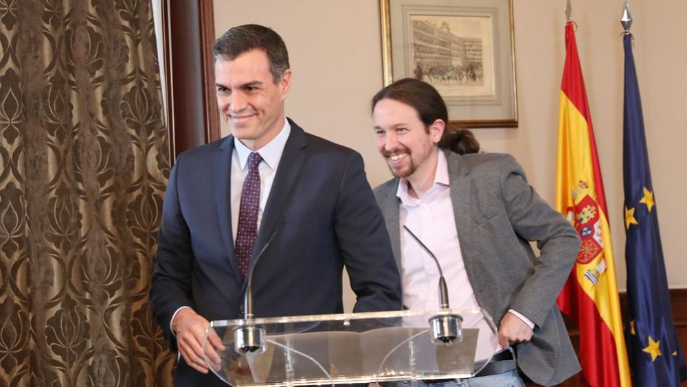 Pedro Sánchez y Pablo Iglesias, líderes de PSOE y Unidas Podemos (Foto: PSOE / Inma Mesa)