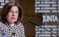 La vicepresidenta y consejera de Hacienda y Administración Pública, Pilar Blanco Morales (Foto. Junta de Extremadura)