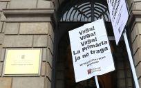 Momento de una reclamación de Metges de Catalunya ante el ICS (Foto: @metgescatalunya)