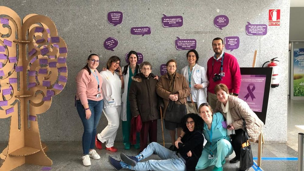 El Hospital de Torrejón se une a la lucha contra la violencia de género