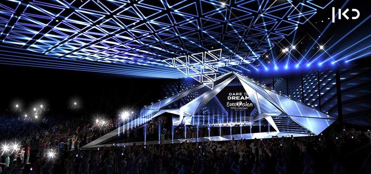 Escenario de Eurovisión 2019 celebrado en Tel Aviv. (Foto. KAN)