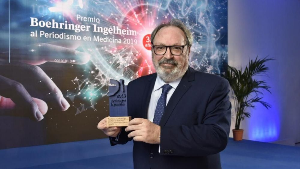 Juan Blanco, CEO del Grupo Mediforum, recoge el Premio Boehringer Ingelheim 2019