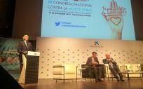 El consejero de Sanidad de la Comunidad de Madrid, durante la inauguración oficial del IV Congreso Nacional contra la Muerte Súbita (Foto: Juanjo Carrillo - ConSalud.es)