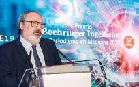 Juan Blanco. CEO del Grupo Mediforum y editor de ConSalud.es, durante la gala de los Premios Boehringer Ingelheim al Periodismo en Medicina (Foto. Miguel Ángel Escobar   ConSalud.es)