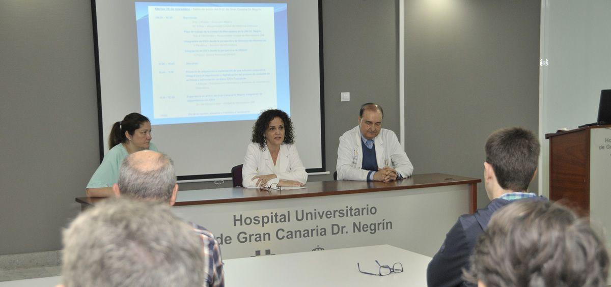 Momento de la jornada celebrada en el Hospital Dr. Negrín (Foto. Gobierno de Canarias)
