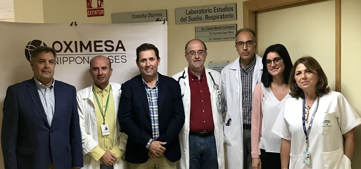 Miembros de los equipos del Hospital Universitario Virgen de las Nieves de Granada y OXIMESA (Foto. HUVDLN)